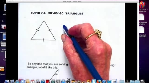 Thumbnail for entry Mrs. Thomas 30-60-90 triangle