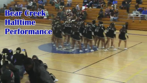 Thumbnail for entry Cheerleaders perform halftime at Bear Creek High School