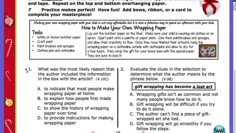 Thumbnail for entry How to Wrap a Gift Questions:Answers