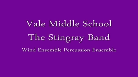 Thumbnail for entry Vale MS Percussion Ensemble - Short Circuits