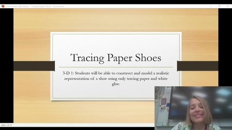 Thumbnail for entry Tracing paper shoe PPT presentation