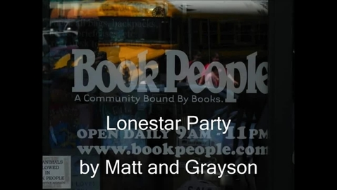 Thumbnail for entry Lone Star Party 2012