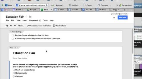 Thumbnail for entry Google Form Settings
