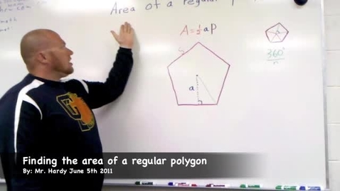 Thumbnail for entry Area of a regular polygon