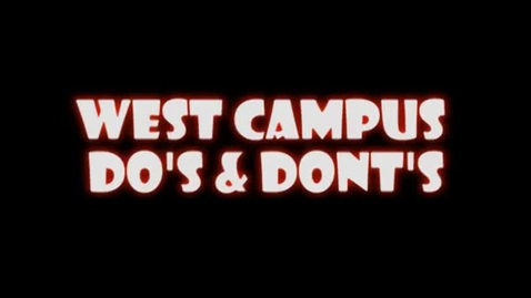 Thumbnail for entry Paramount West Campus Do's and Don'ts