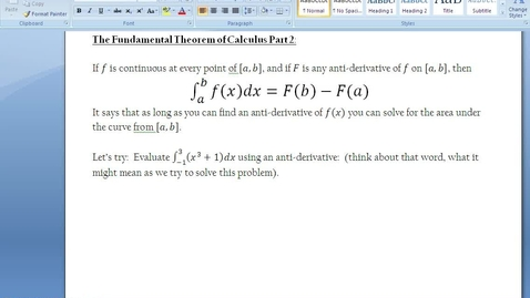 Thumbnail for entry C.4.4 - Fundamental Theorem - Part 3