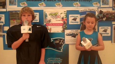 Thumbnail for entry Seaside Elementary's Back to Football Friday Carolina Panther Style