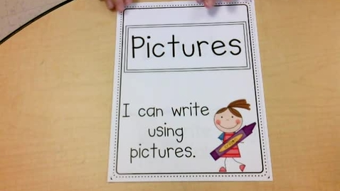 Thumbnail for entry Literacy: I can write using labels