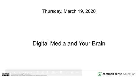 Thumbnail for entry Digital Media and Your Brain