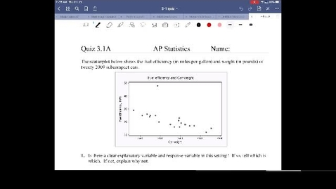 Thumbnail for entry AP Stats 3-1 quiz review