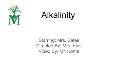 Thumbnail for entry Alkalinity