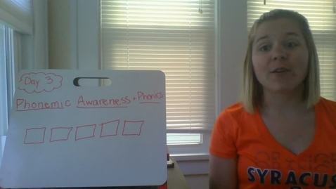 Thumbnail for entry Week 7 Phonemic Awareness and Phonics lesson