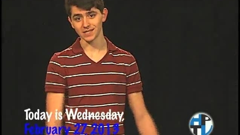 Thumbnail for entry Wednesday, February 27, 2013