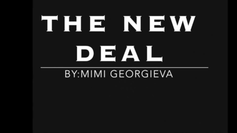 Thumbnail for entry The New Deal