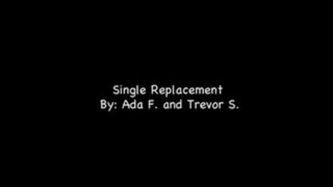 Thumbnail for entry Ada Trevor Single Replacement