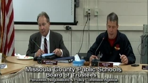 Thumbnail for entry MCPS Personnel, Negotiations & Policy, September 25, 2013