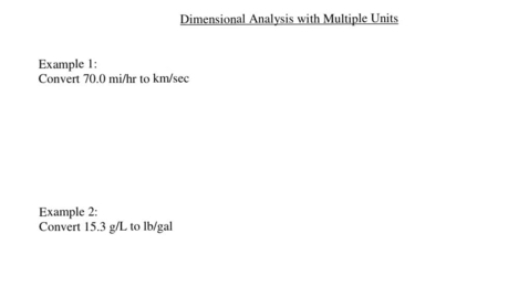 Thumbnail for entry Dimensional Analysis with Multiple Units