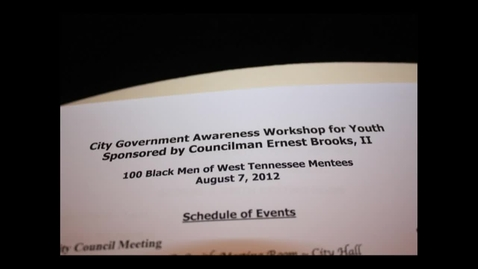 Thumbnail for entry Jackson City Hall - Youth Awarness Workshop