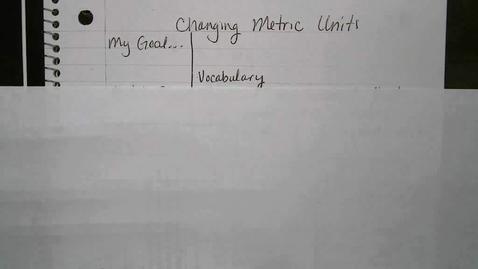 Thumbnail for entry Metric Units