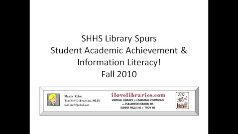 Thumbnail for entry Sunny Hills HS Library Research Fall 2010