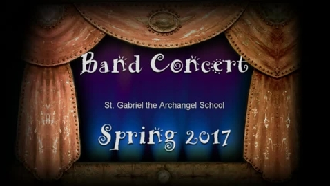 Thumbnail for entry Spring 2017 Band Concert