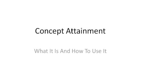 Thumbnail for entry Using a Concept Attainment File With Your Class