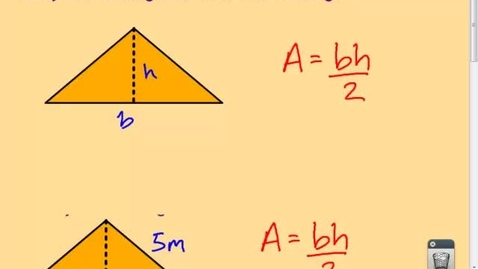 Thumbnail for entry AREA OF A TRIANGLE (Pythagorean Theorem)