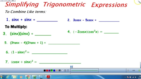 Thumbnail for entry Unit 3 Trig Day 4 notes