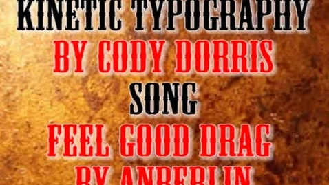 Thumbnail for entry Kinetic Typography CD2