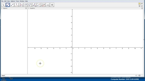 Thumbnail for entry Graphing linear equations in Geogebra