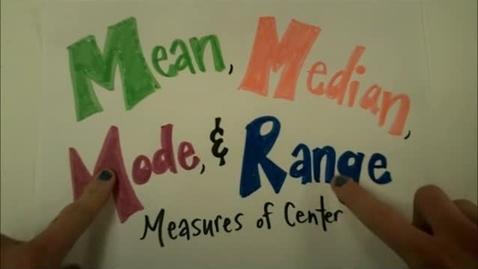 Thumbnail for entry Mean Median Mode Range