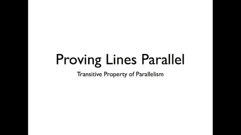 Thumbnail for entry Extending the Converses of Parallel Line Theorems