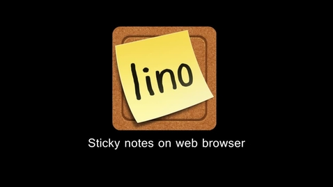 Thumbnail for entry Lino.it - Sticky & Photo Sharing for you