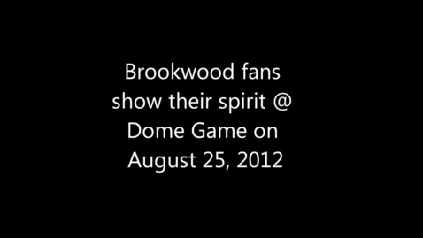 Thumbnail for entry Brookwood High School Fans Show Their School Spirit