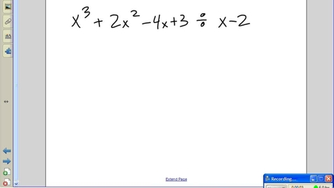 Thumbnail for entry Polynomial Division Practice - Juda Math