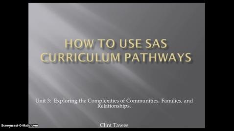 Thumbnail for entry SAS Instruction Video