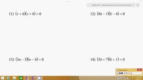 Thumbnail for entry Algebra 1B Lesson 06 #11-20