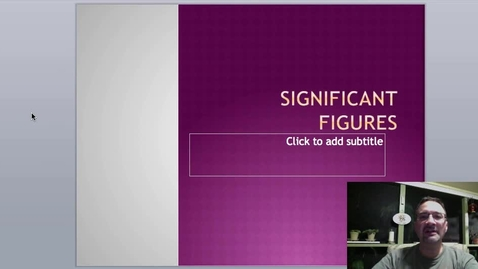 Thumbnail for entry Rules of Significant Figures