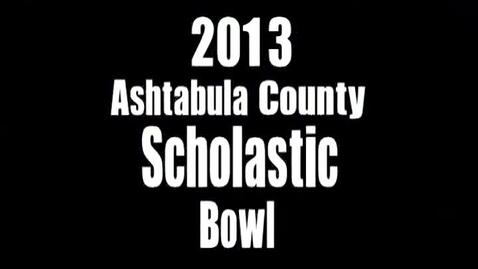 Thumbnail for entry Ashtabula County Scholastic Bowl Round 1