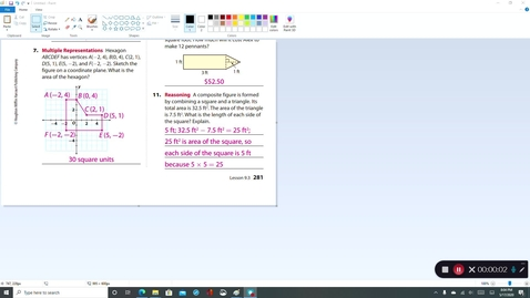 Thumbnail for entry 7th Grade - 4th Quarter Lesson 9-3 Video Lesson #4 for Monday 5/18/2020