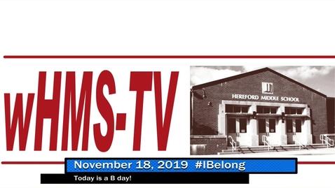 Thumbnail for entry WHMS Morning Show November 18, 2019