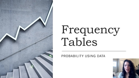Thumbnail for entry 11.5 Building a Frequency Table