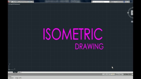 Thumbnail for entry How to draw ISOMETRIC in CAD