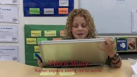 Thumbnail for entry Kaylen Explains Adding Endings to Base Words