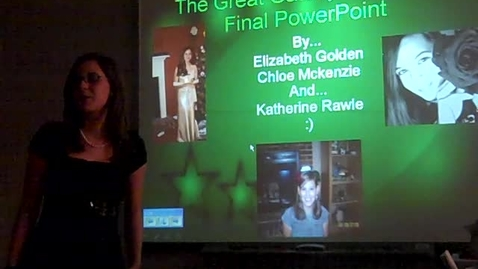 Thumbnail for entry Great Gatsby -- Chapter 9 -- PowerPoint presentation -- Chloe McKenzie, Katherine Rawle, and Elizabeth Golden
