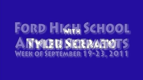 Thumbnail for entry FHS Announcements -- Week of September 19-23, 2011