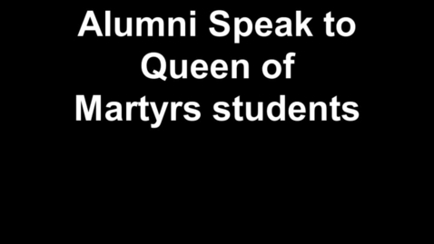 Thumbnail for entry Alumni Speak to QofM Students