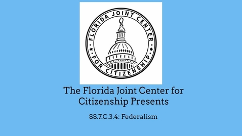 Thumbnail for entry 3.4 Federalism