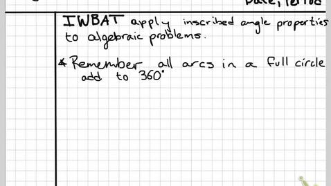 Thumbnail for entry Obj 27C Algebraic examples pt 1