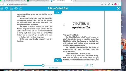 Thumbnail for entry A Boy Called Bat Chs. 11-12